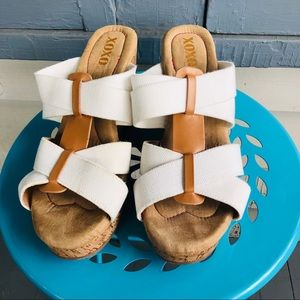 XOXO Cork Wedge Sandals
